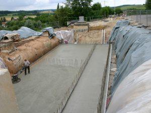 Neubau Blockkraftheizwerk (Erstellen einer Bodenplatte), HGW Weißenburg